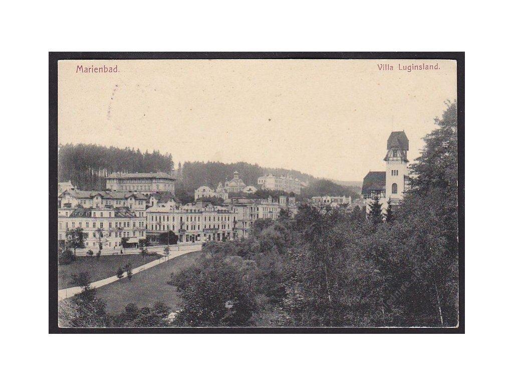 08 - Chebsko, Mariánské lázně (Marienbad), vila Lil (Villa Luginsland), cca 1911