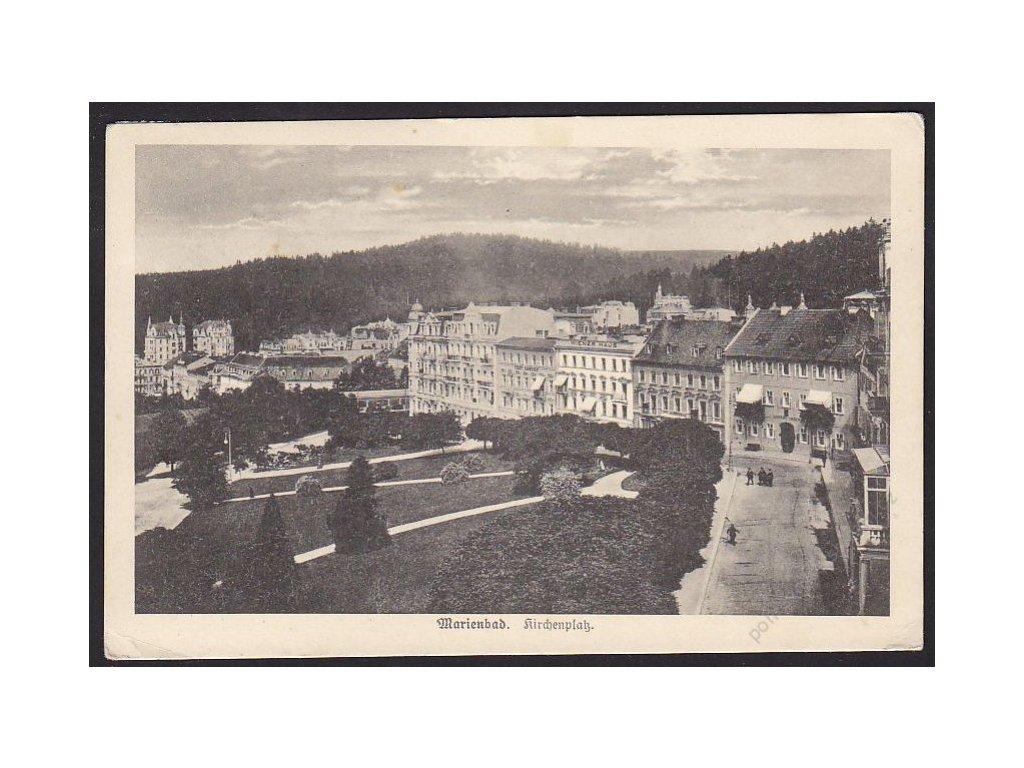08 - Chebsko, Mariánské lázně (Marienbad), Kostelní náměstí (Kirchenplatz), cca 1925