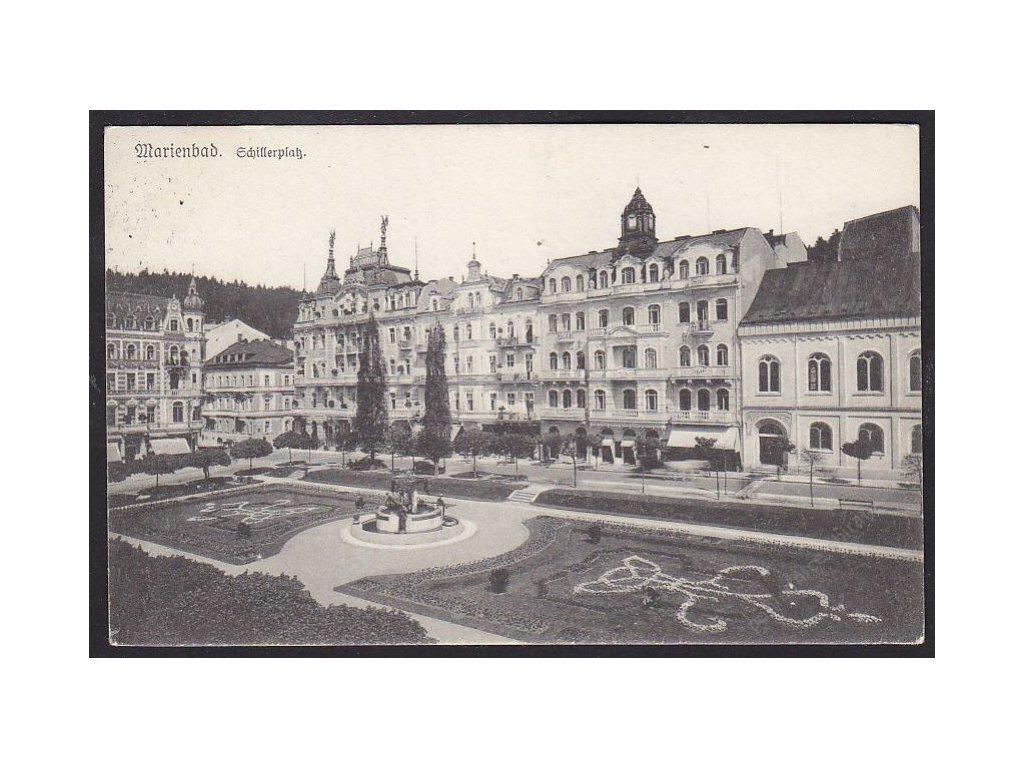 08 - Chebsko, Mariánské lázně (Marienbad), Mírové náměstí (Schillerplatz), cca 1926