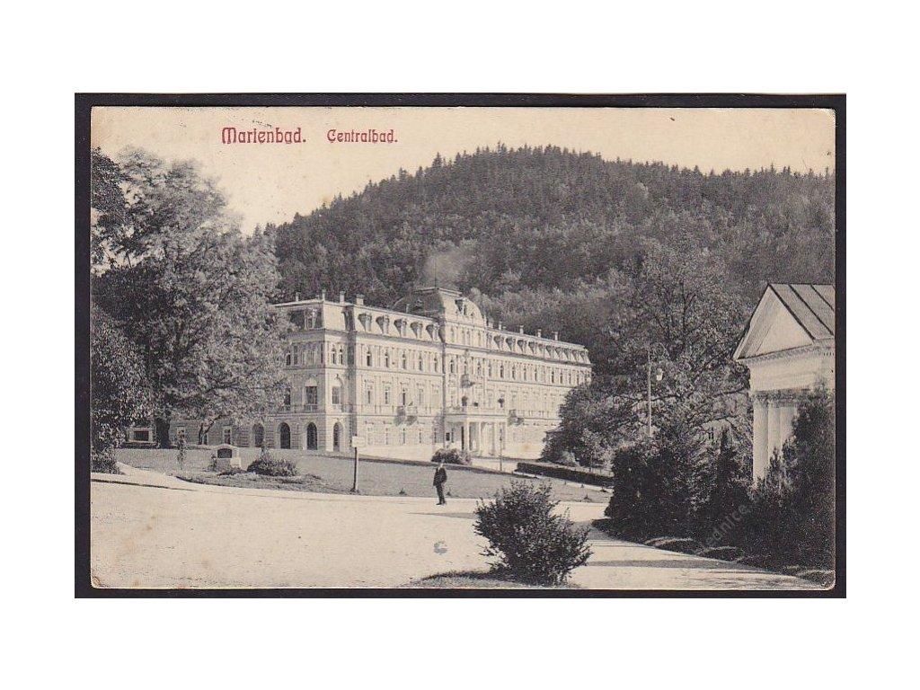 08 - Chebsko, Mariánské lázně (Marienbad), hlavní lázně (Centralbad), cca 1918