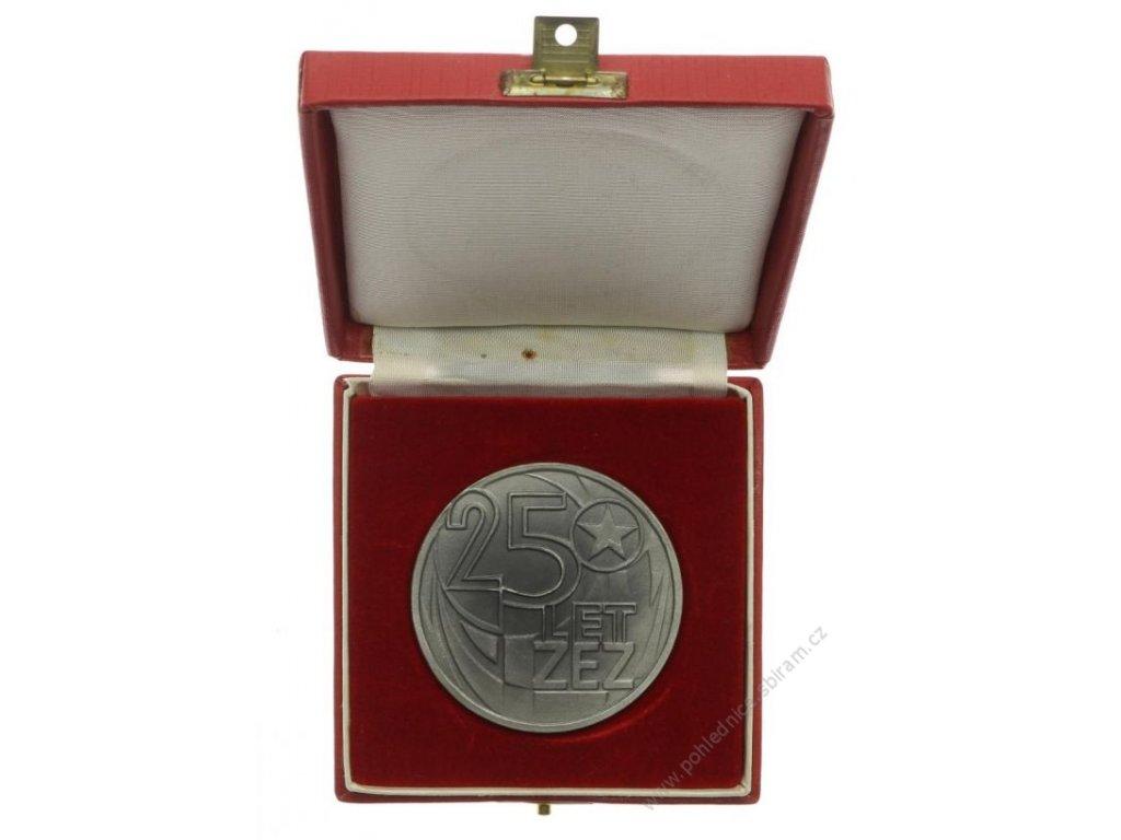ČSSR, AE medaile Závody elektrotepelných zařízení Praha, 25 let, 1973