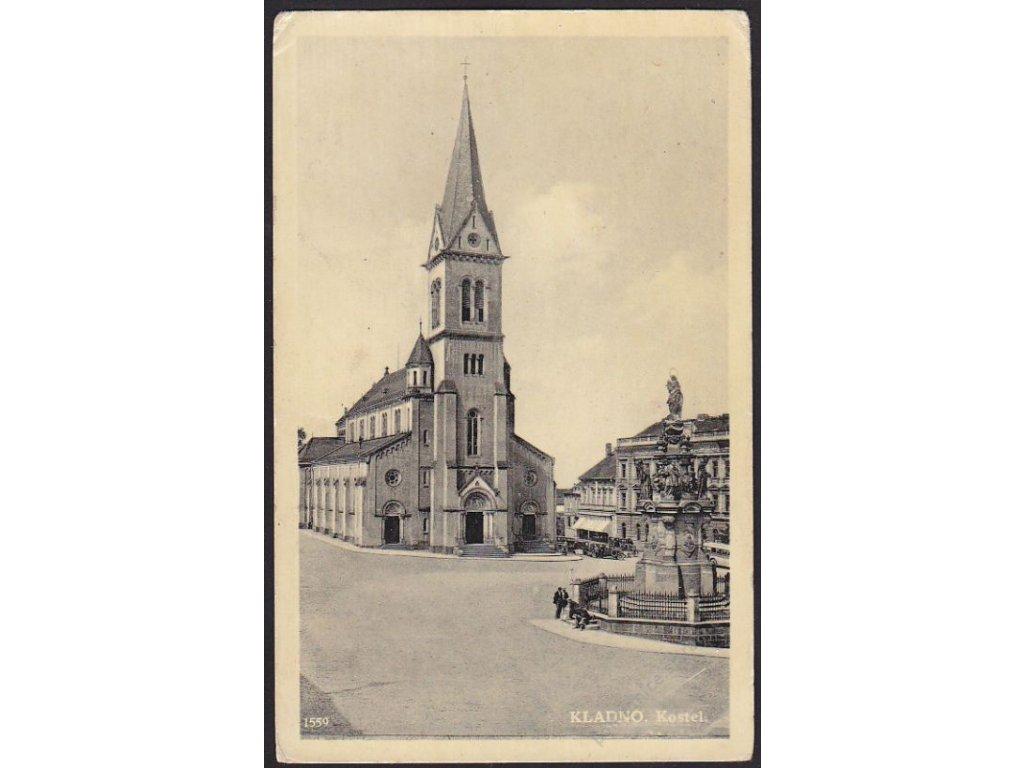 27 - Kladno, kostel Nanebevzetí Panny Marie, cca 1925