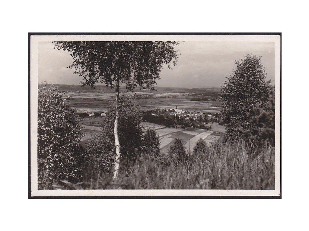 22 - Jičínsko, lázně Mlázovice, celkový pohled, grafo Čuda, cca 1940