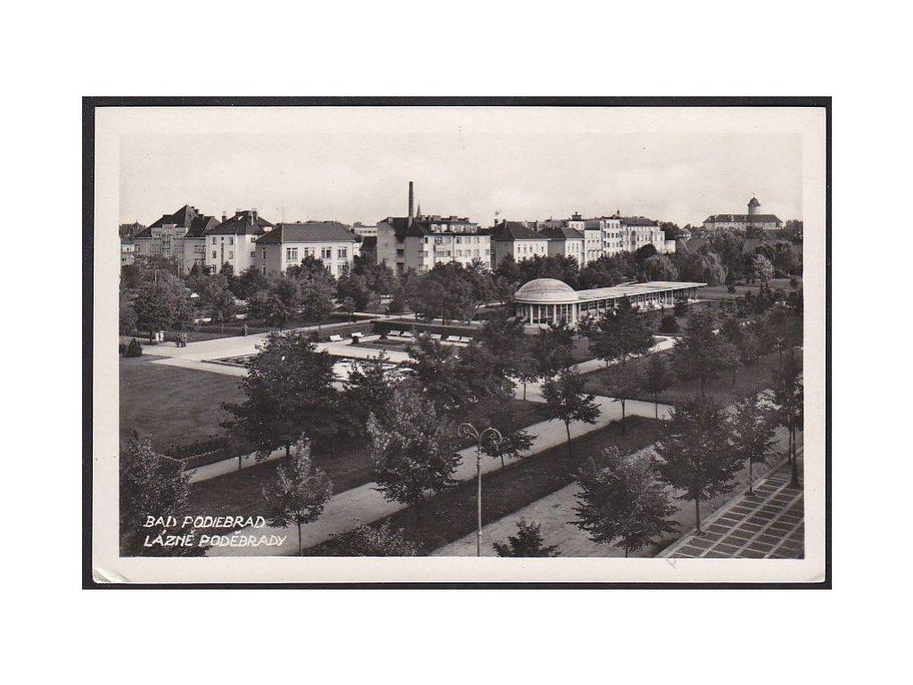 40 - Nymbursko, lázně Poděbrady (Bad Podiebrad), foto Javorovský, cca 1935