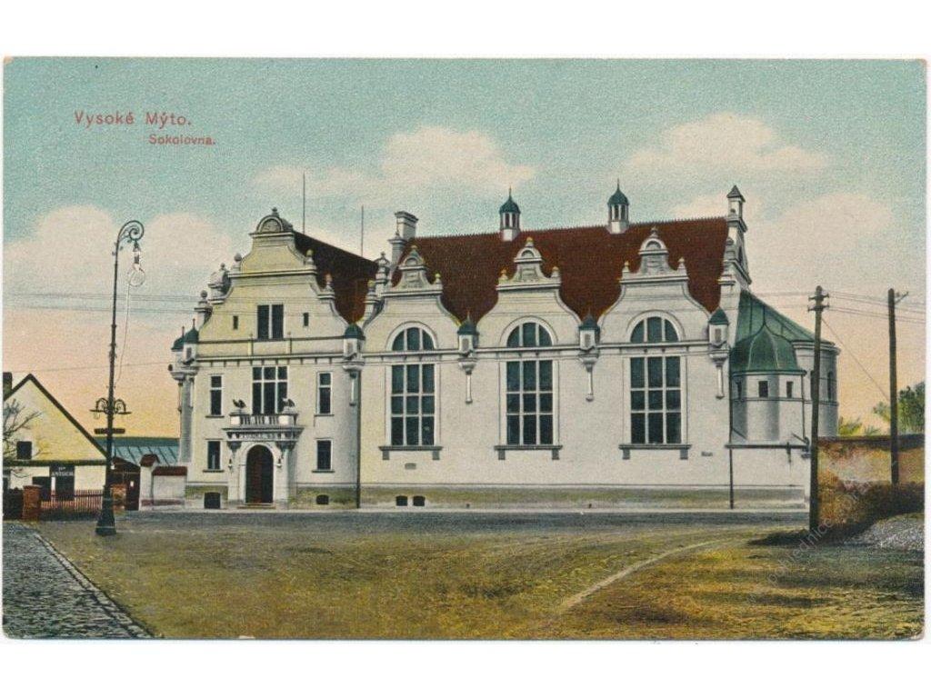 70 - Orlickoústecko, Vysoké Mýto, oživené Pražské předměstí, cca 1917
