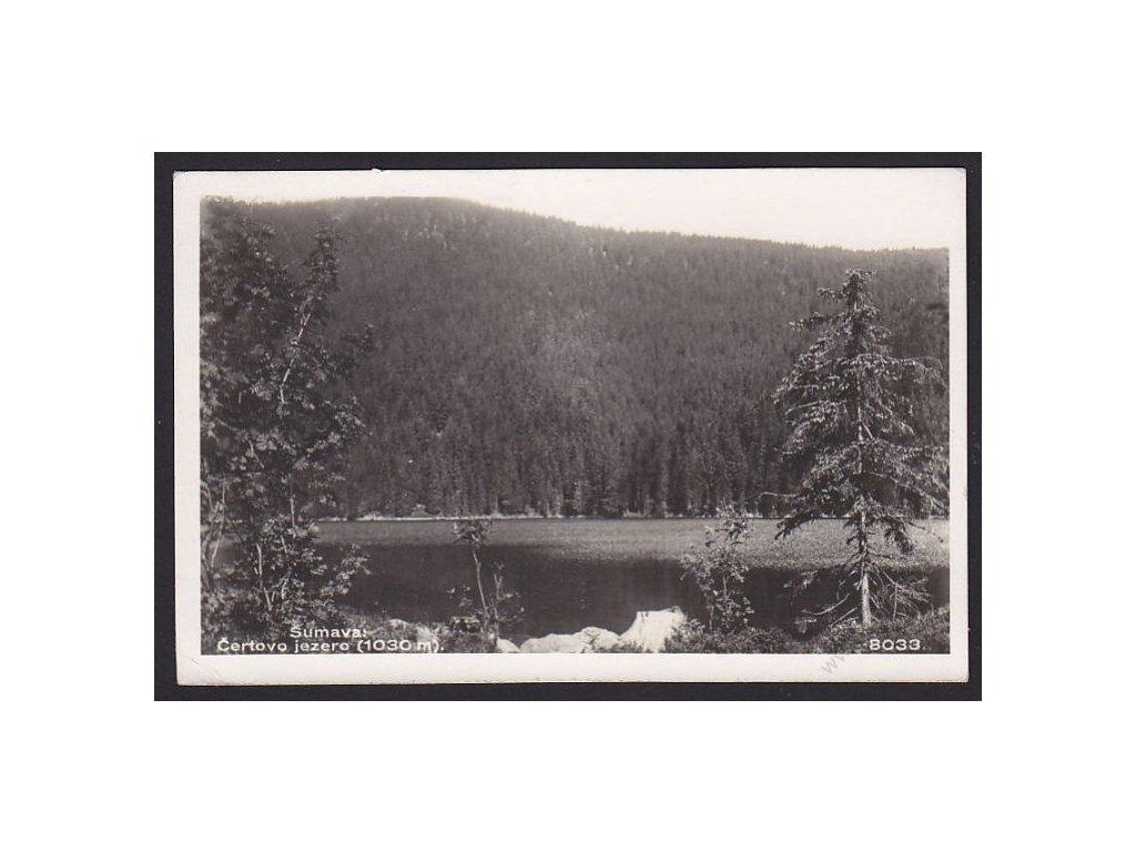 28 - Šumava, Černé jezero, foto Fon č.8033, cca 1930