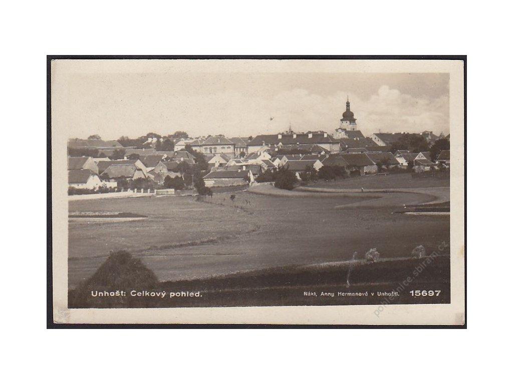 27 - Kladensko, Unohšť, celkový pohled, foto Fon, cca 1925
