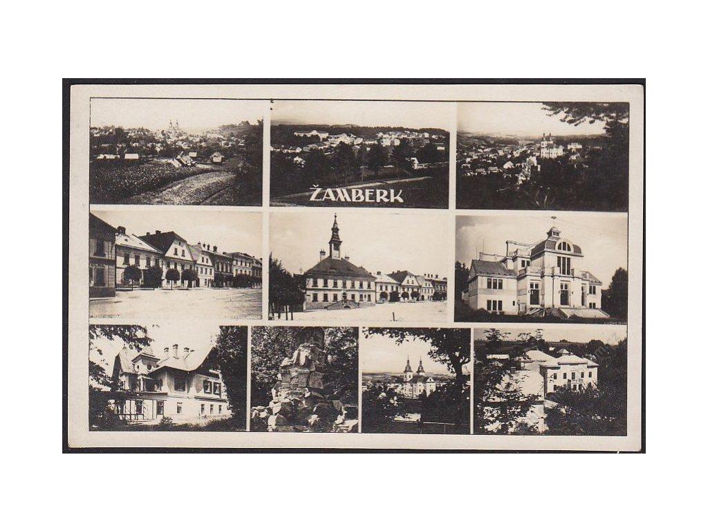 70 - Ústeckoorlicko, Žamberk, části města, nakl. Krátký, cca 1930