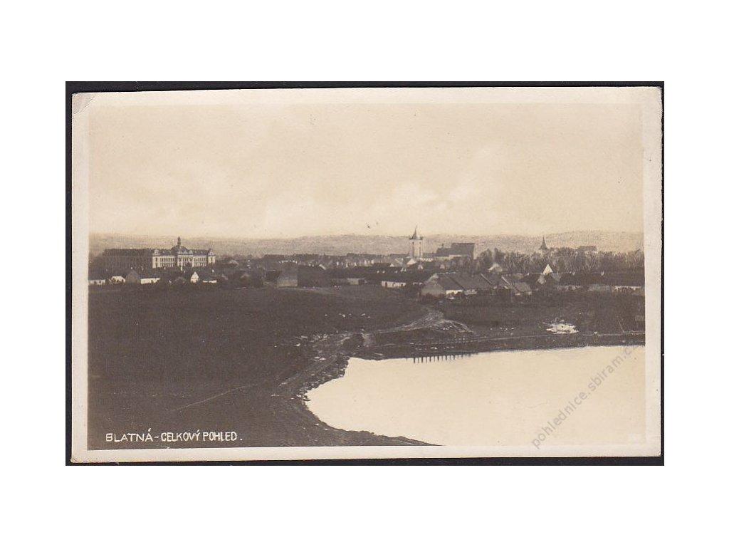 60 - Strakonicko, Blatná, celkový pohled, foto Fon, nakl. Novotný, cca 1925
