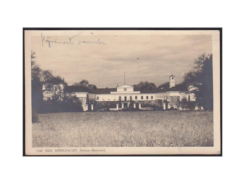 08 - Chebsko, Lázně Kynžvart, zámek, foto Seidel č.1346, cca 1925