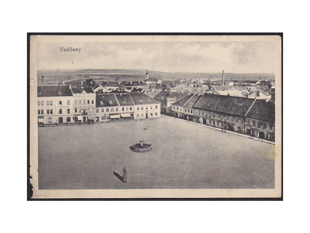 60 - Strakonicko, Vodňany, náměstí, nakl. Fridrich, cca 1920