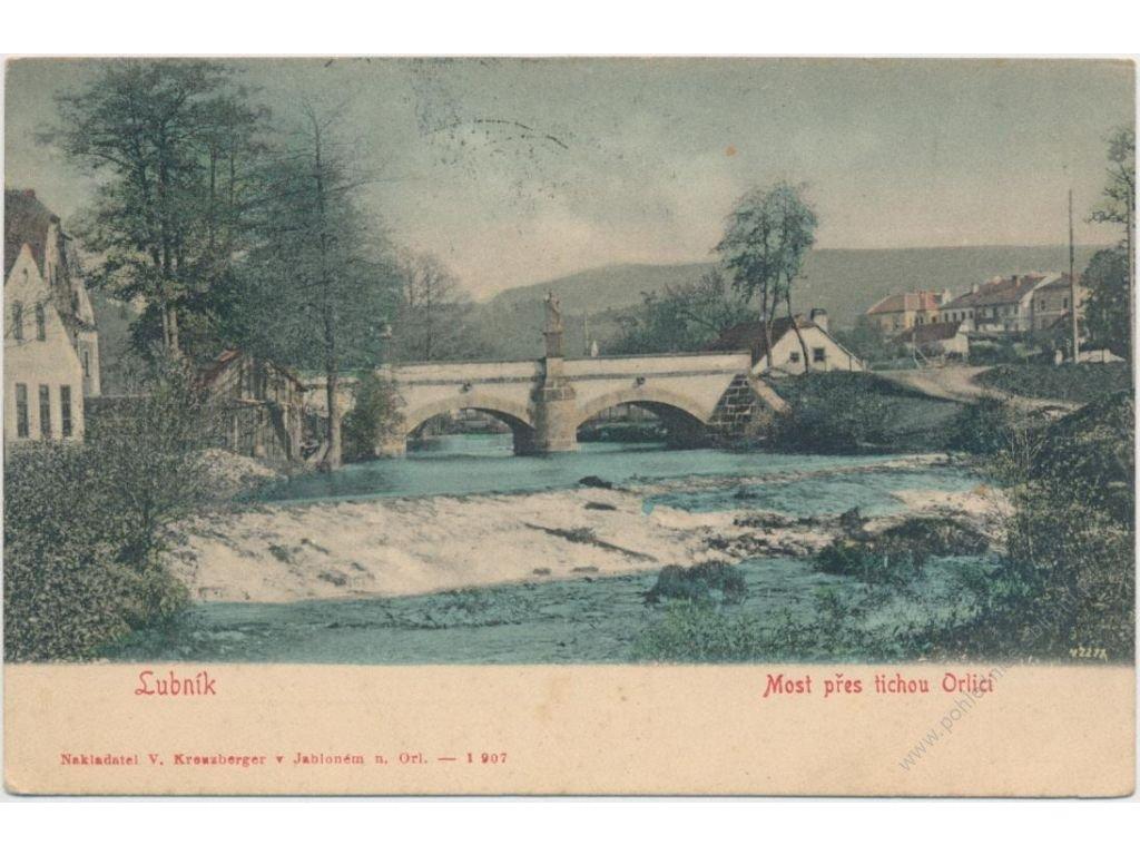 70 - Orlickoústecko, Lubník, Most přes řeku Orlici, cca 1907...