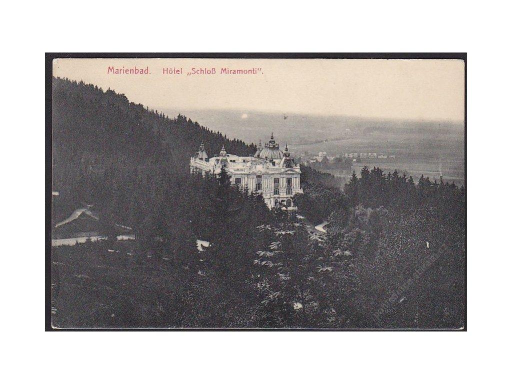 08 - Chebsko, Mariánské lázně (Marienbad), hotel Miramonte, nakl. Poy, cca 1908