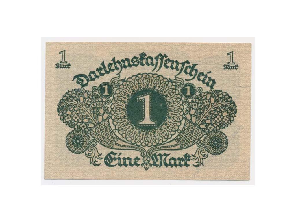Německo, 1+1+2+2 Marky, Darlehnskassenschein, 1920/1922, stavy UNC