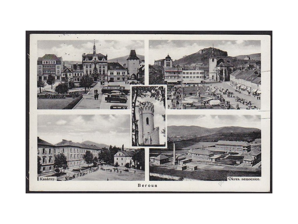 02 - Beroun, části města, cca 1938