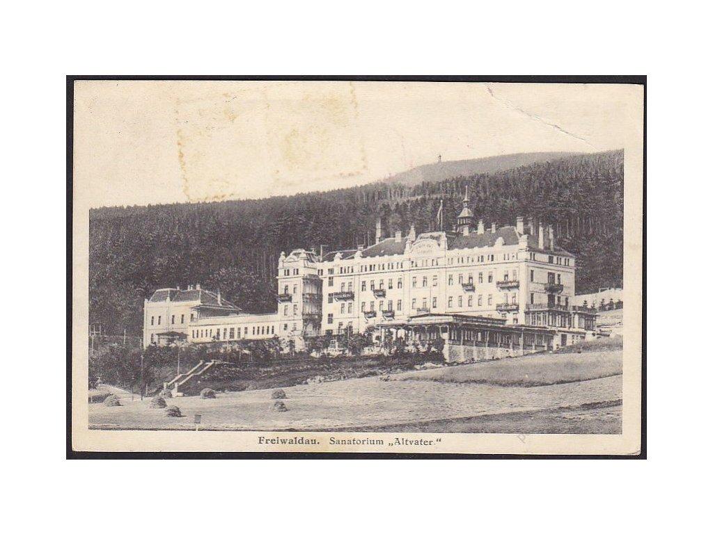 """21 - Jesenicko, sanatorium """"Altvater"""", cca 1929"""