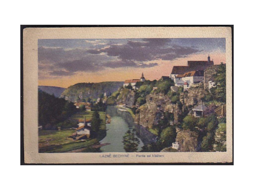 64 - Táborsko, lázně Bechyně, partie od kláštera, cca 1920