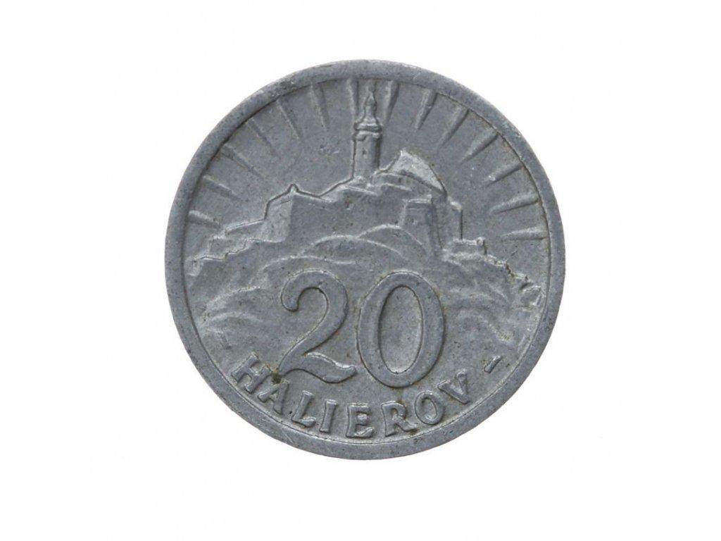 Slovenský štát, mince 20 h, 1942,Al,  stav 1/1