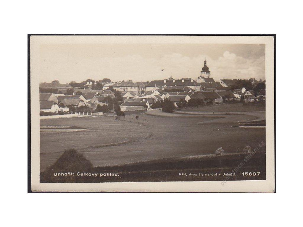 27 - Kladensko, Unohšť, celkový pohled, foto Fon, cca 1931