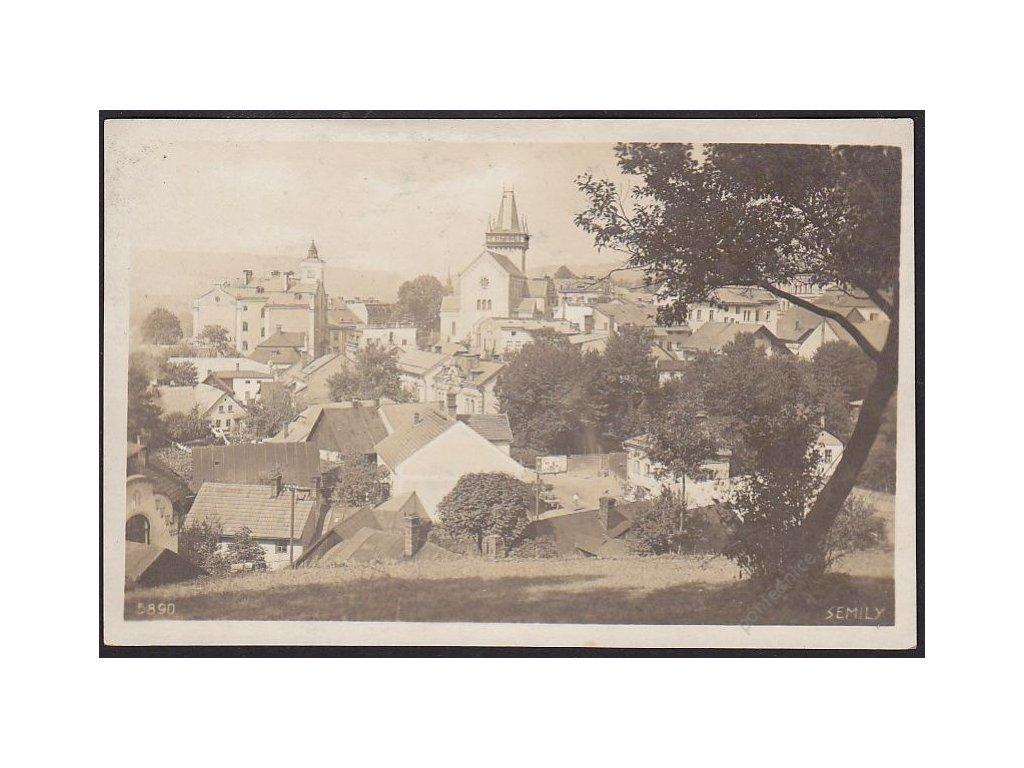 58 - Semily, pohled na město, nakl. Chaloupecký, cca 1925