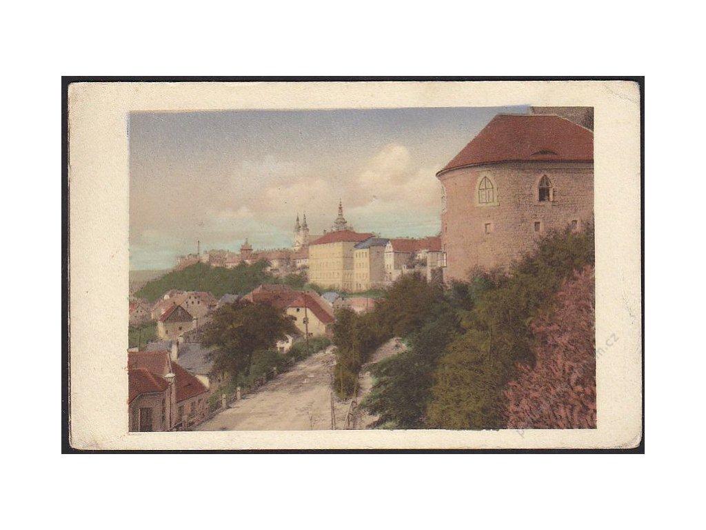 34 - Lounsko, Žatec (Saaz), západní strana (westseite), nakl. Wara, cca 1920