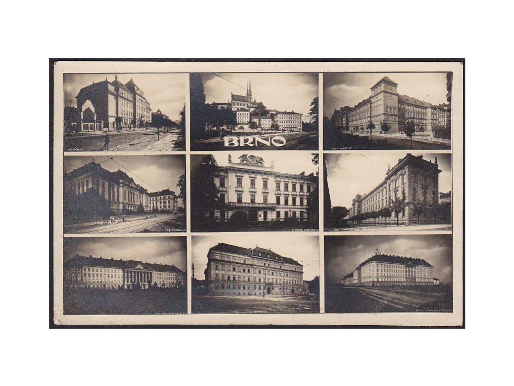 04 - Brno-město, části města, cca 1930