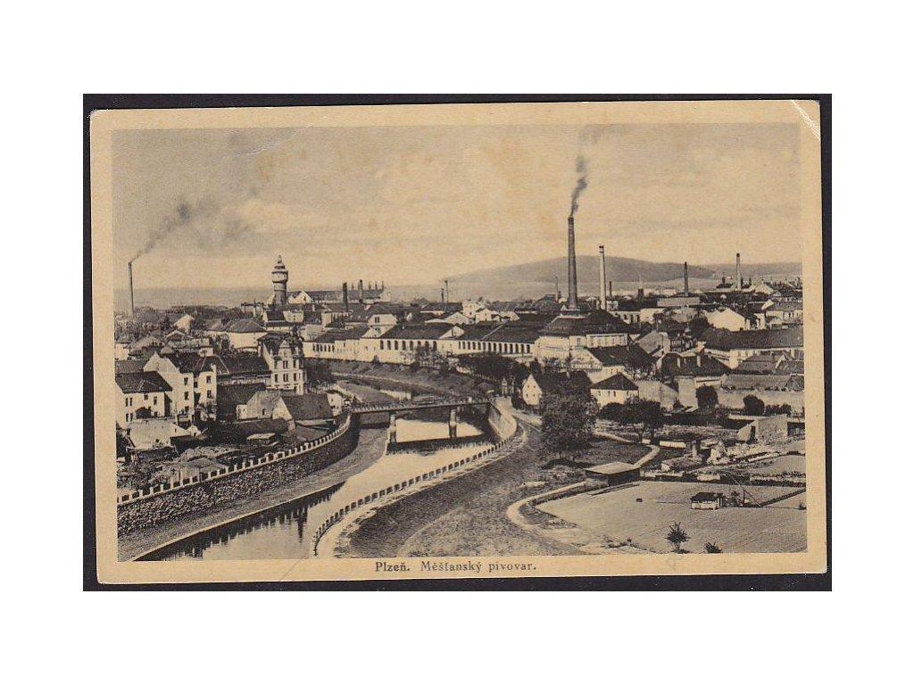 47 - Plzeň, Měšťanský pivovar, nakl. Šulhof, cca 1925