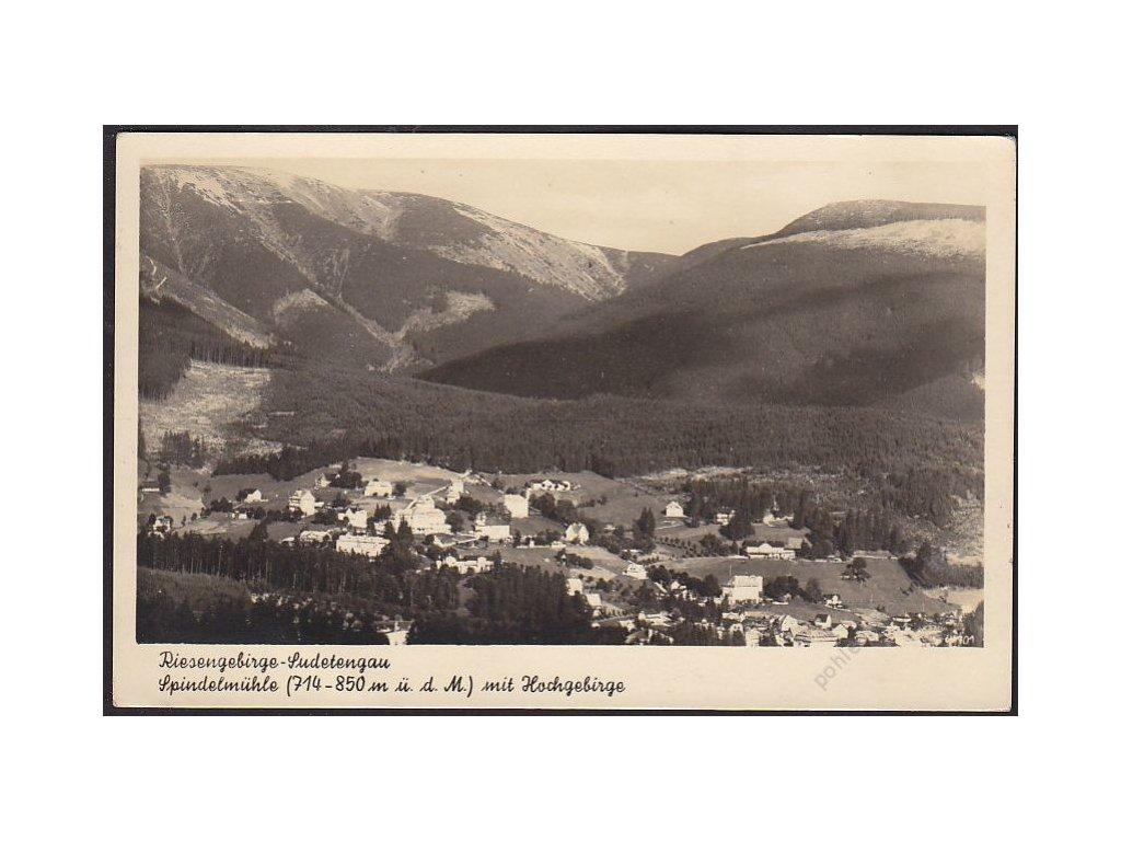 66 - Trutnovsko, Krkonoše (Riesengebirge), Špindlerův mlýn, nakl. Staudte, cca 1935