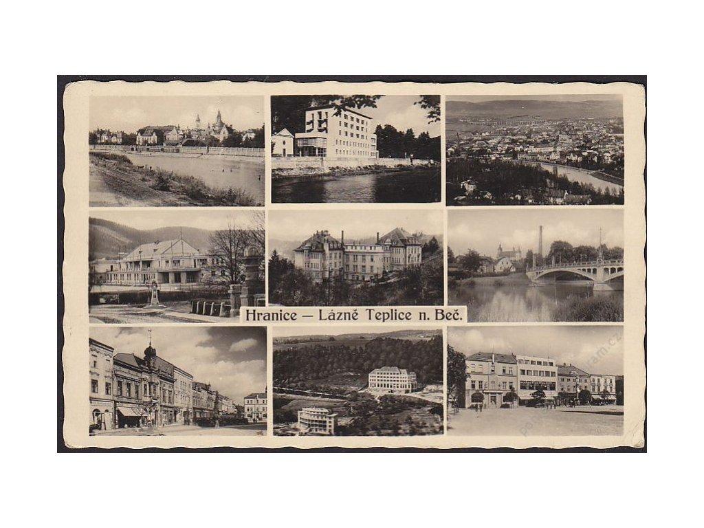 53 - Přerovsko, Hranice, Lázně Teplice nad Bečvou, části obce, cca 1941