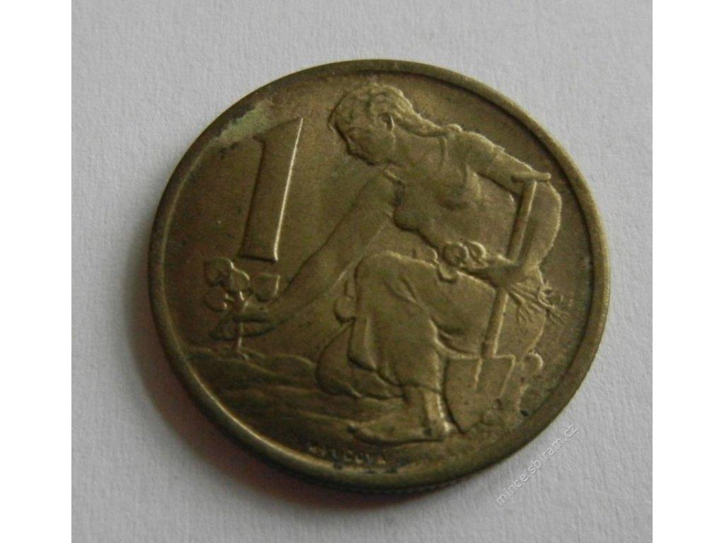 Mince 1 Kčs 1957, 1/1