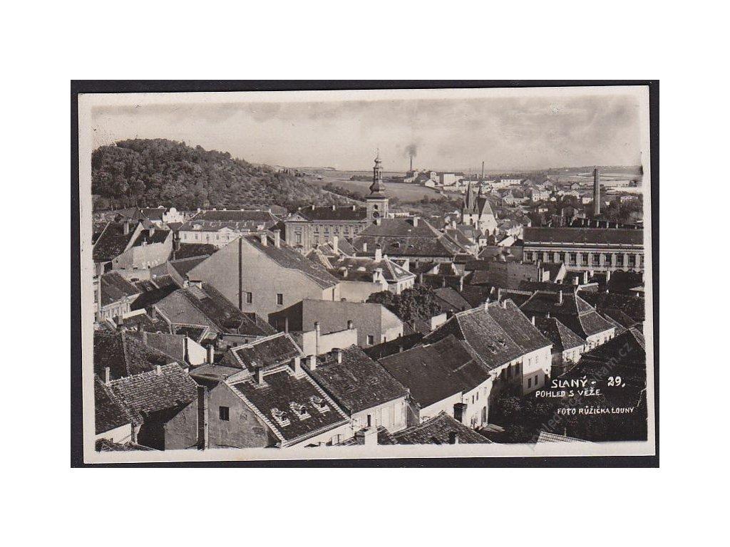 27 - Kladensko, Slaný, pohled s věže, cca 1930