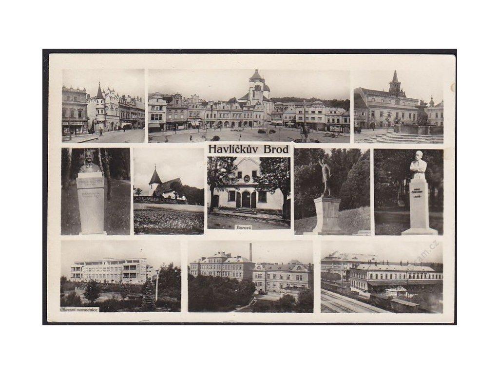 17 - Havlíčkův Brod, části města, foto Švec, cca 1935