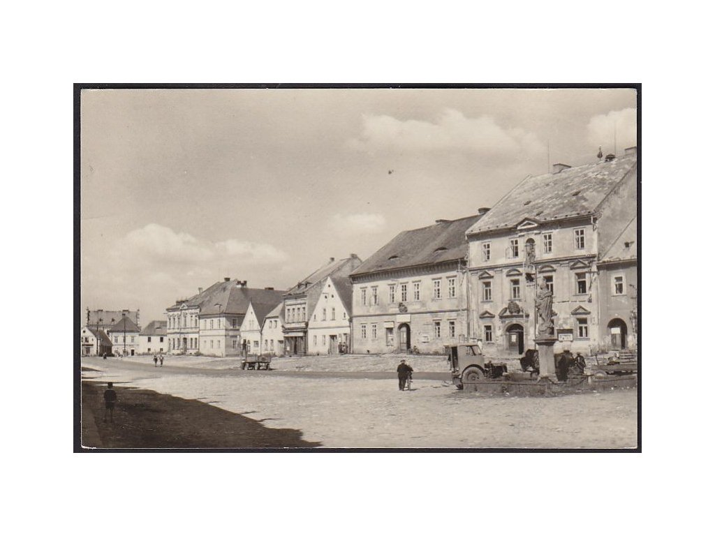 63 - Tachovsko, Bor, náměstí, cca 1948