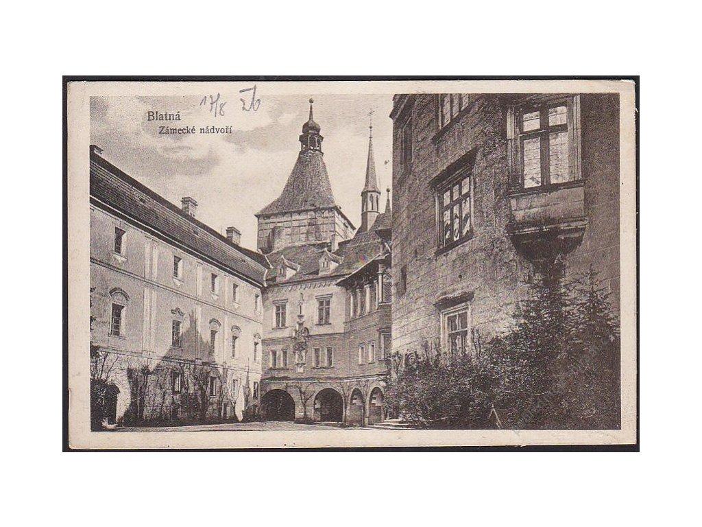 60 - Strakonicko, Blatná, zámecké nádvoří, cca 1935
