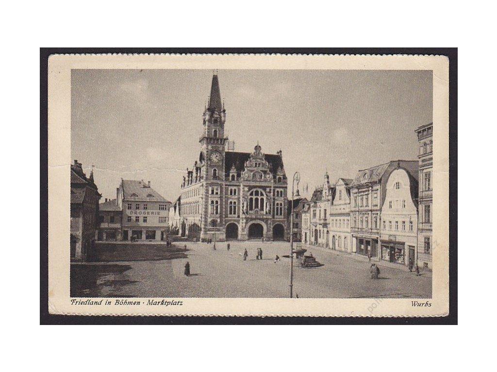 32 - Liberecko, Frýdlant v Čechách (Friedland i. B.), náměstí (marktplatz), cca 1930