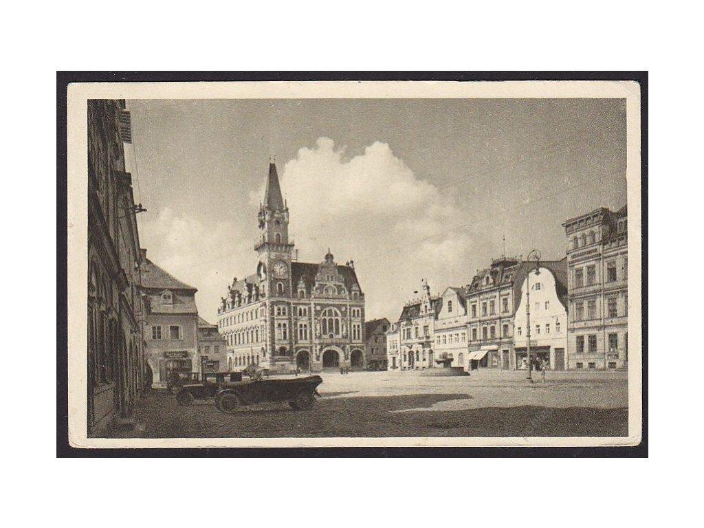 32 - Liberecko, Frýdlant v Čechách (Friedland i. B.), náměstí (marktplatz), cca 1935