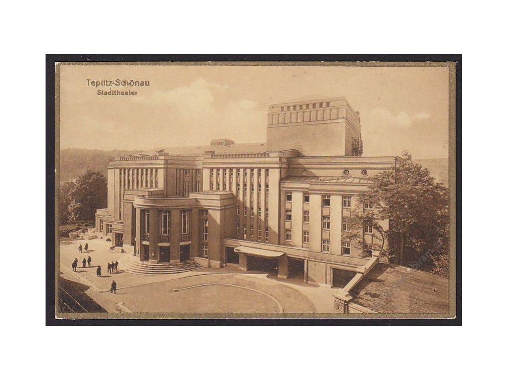 65 - Teplice (Teplitz), městské divadlo (stadttheater), nakl. Kettling & Krüger, cca 1930