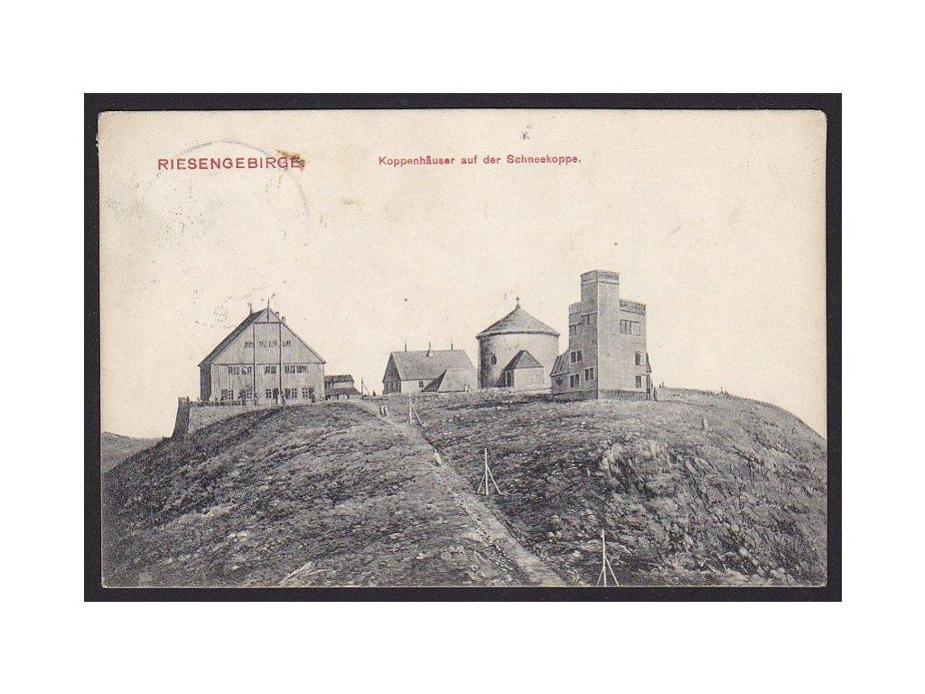66 - Trutnovsko, Krkonoše, Sněžka, vrchol, nakl. C. Schwager Nachfolger, cca 1908