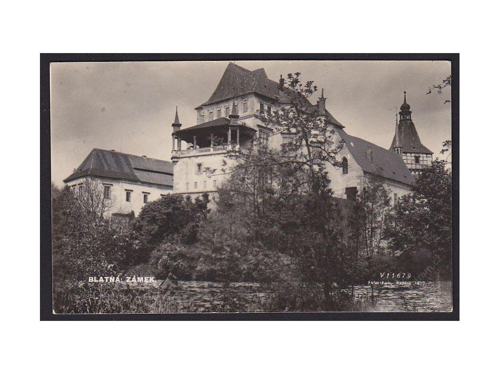 60 - Strakonicko, Blatná, zámek, foto Fon č.1829, cca 1935