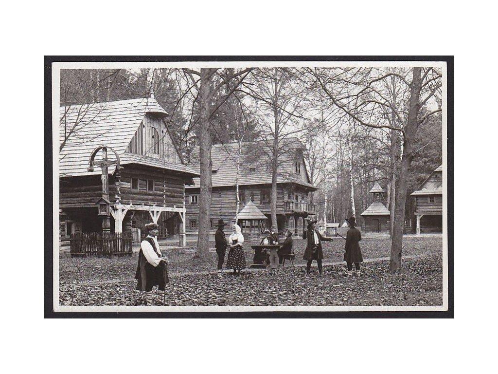 71 - Vsetínsko, Rožnov pod Radhoštěm, Valašské muzeum v přírodě, cca 1938