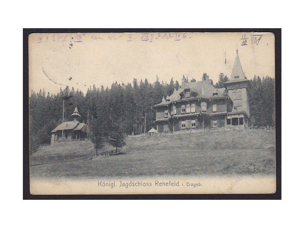 Germany, Königl Jagdschloss rehefeld i. Erzgreb., publisher C. Hermann Schütze, cca 1908