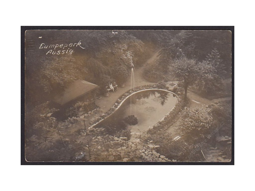 69 - Ústní nad Labem (Aussig), ptačí rezervace (Lumpepark), cca 1920