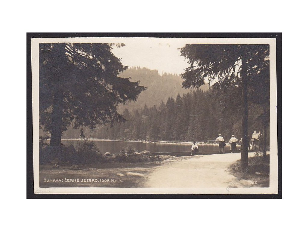 28 - Šumava, Černé jezero, foto Fon, cca 1920
