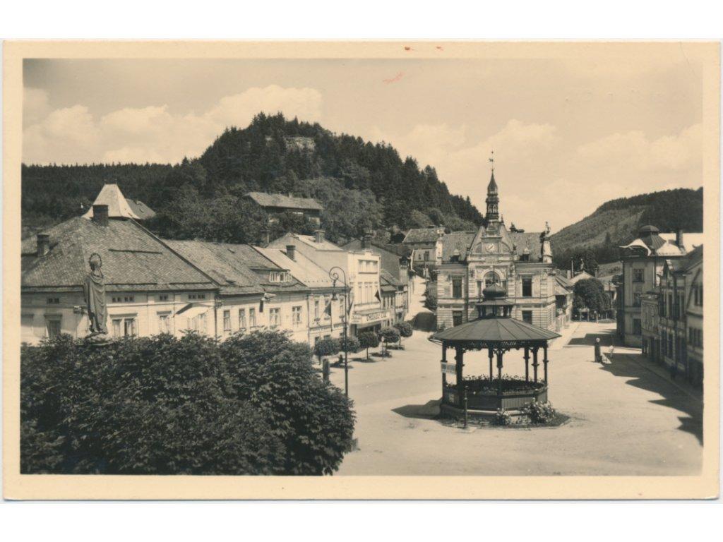 70 - Orlickoústecko, Brandýs nad Orlicí, náměstí, cca 1940