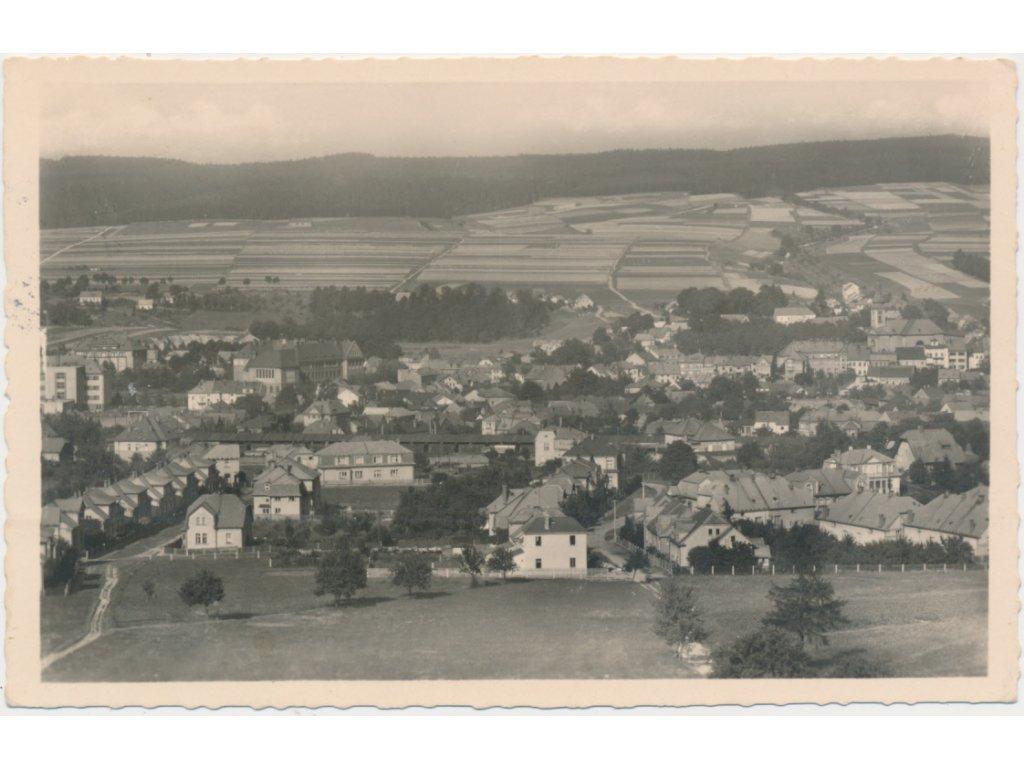 70 - Orlickoústecko, Česká Třebová, celkový pohled na město, cca 1944