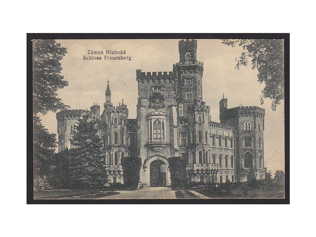 12 - Českobudějovicko, zámek Hluboká, (Schloss Frauenberg), nakl. Zenker, cca 1925