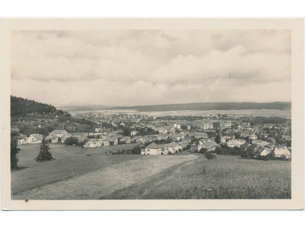 70 - Orlickoústecko, Česká Třebová, celkový pohled na město, cca 1945