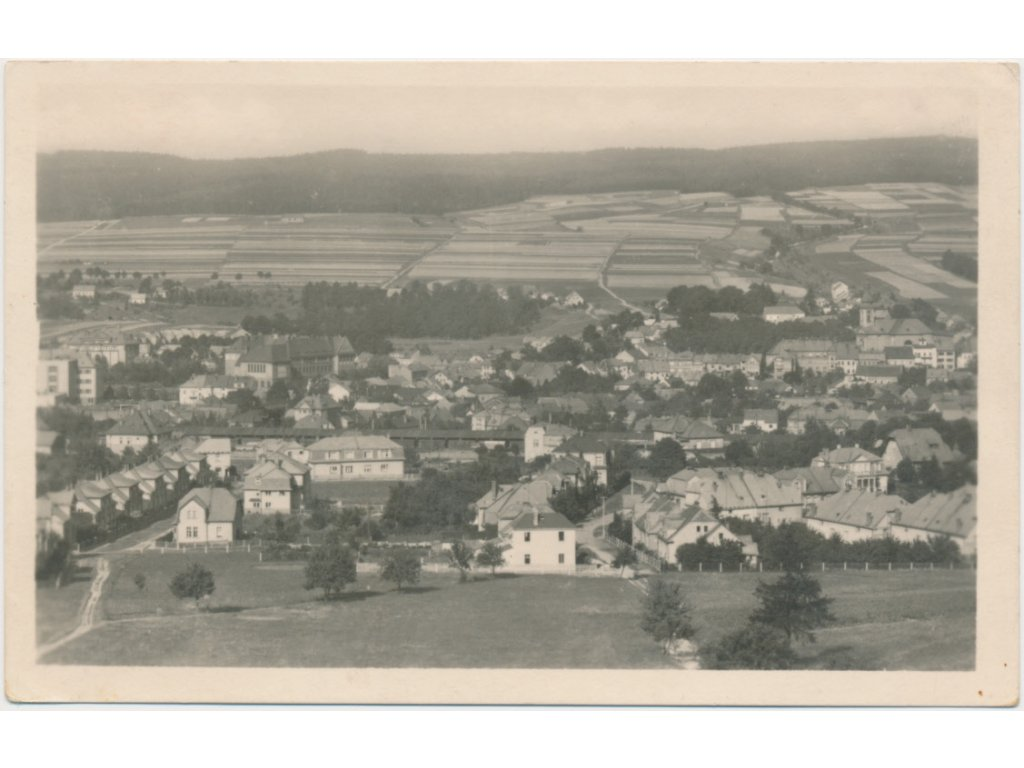 70 - Orlickoústecko, Česká Třebová, celkový pohled na město, cca 1940