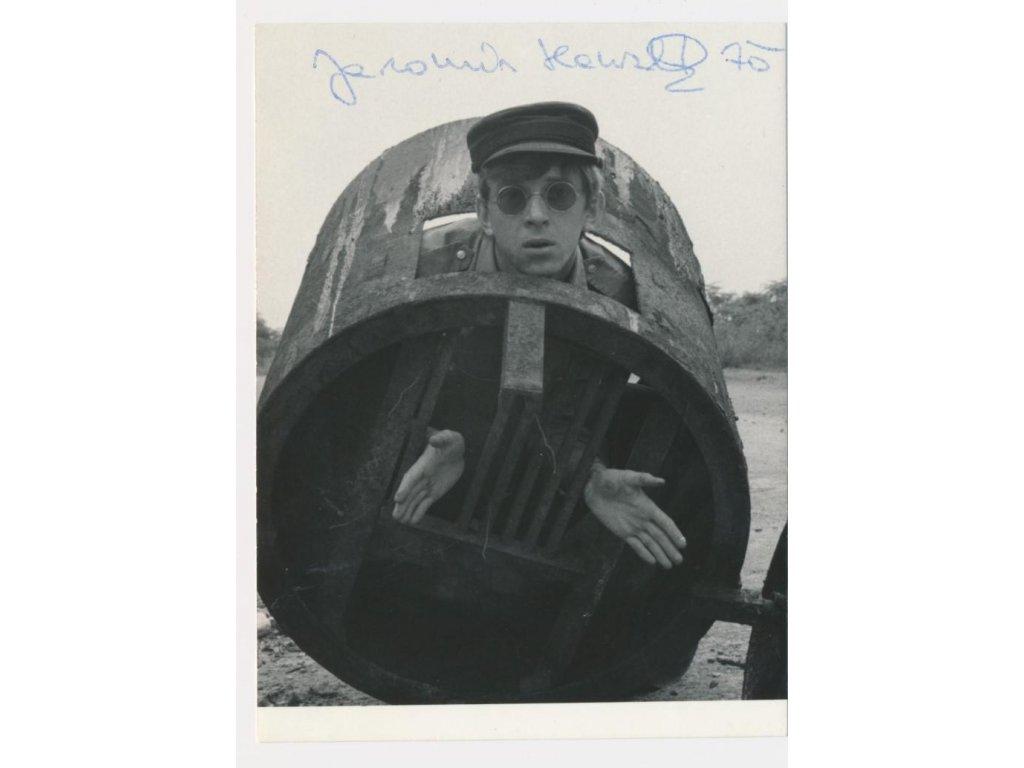 Hanzlík Jaromír (1948), herec, portrétová fotografie s podpisem
