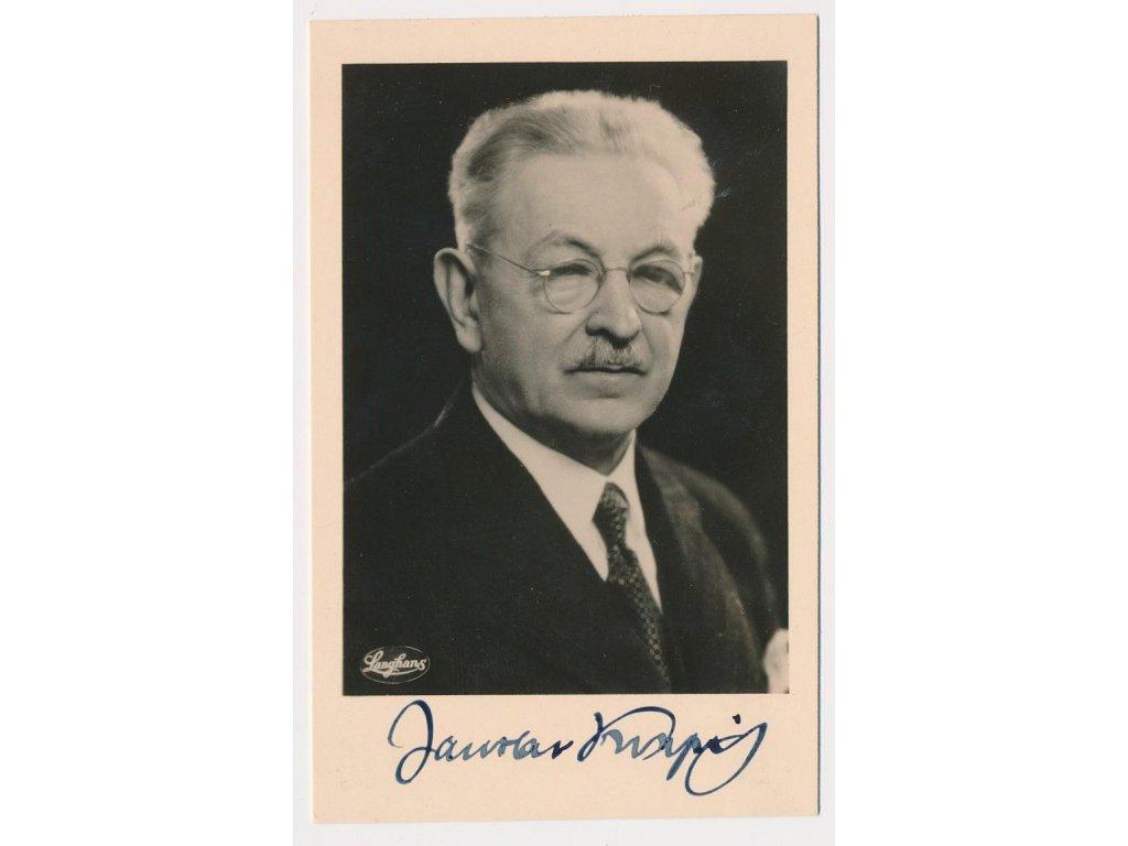 Kvapil Jaroslav (1868-1950), básník, portrétová pohlednice s podpisem